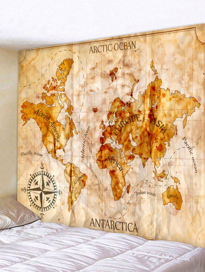 2018 world map printed wall tapestry multicolor w inch l inch in world map printed wall tapestry multicolor w91 inch l71 inch gumiabroncs Image collections