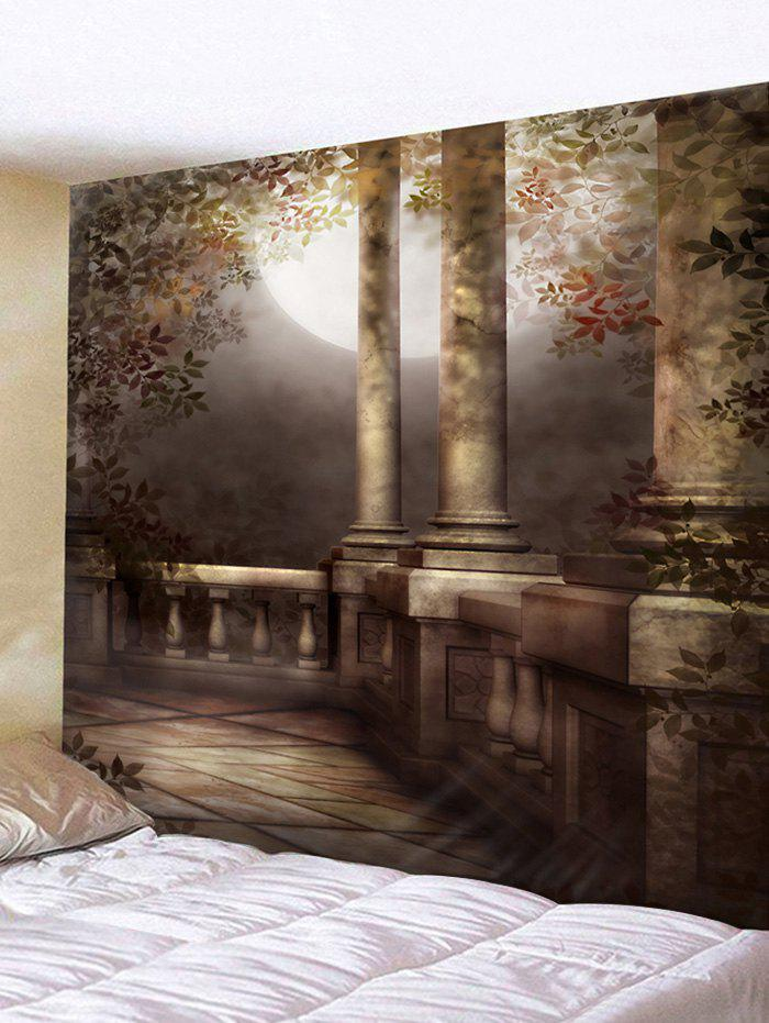 Moon Night Architecture Print Wall Hanging Tapestry
