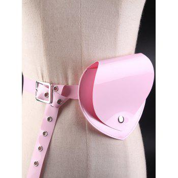 Jelly Color Heart Funny Bag Waterproof Waist Belt - PINK