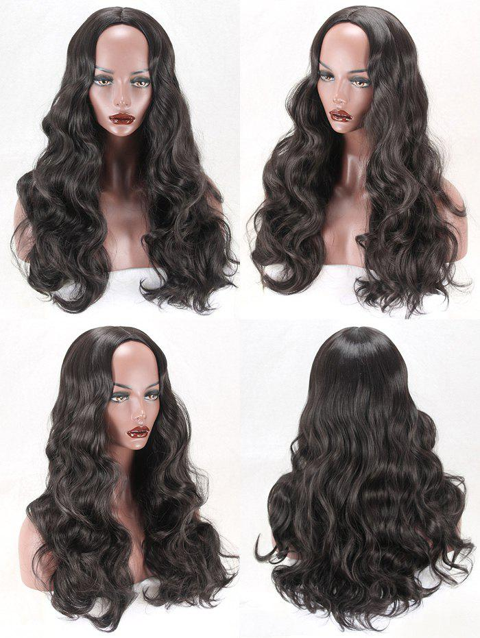 Long Center Part Body Wave Synthetic Fiber Wig center part long body wave heat resistant synthetic wig