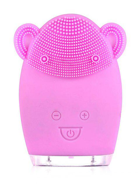Deep Cleansing Ultrasonic Silicone Facial Cleansing Instrument - BLOSSOM PINK