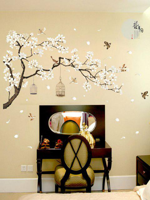 Flower Tree Pattern Wall Art Stickers - multicolor
