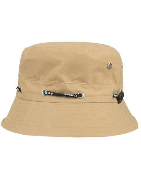 Line Embroidery Summer Bucket Hat - CAMEL BROWN