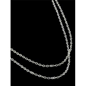 Simple Alloy Layered Belly Chain - SILVER