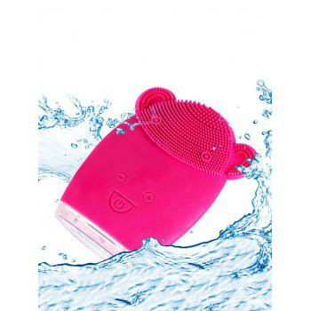 Deep Cleansing Ultrasonic Silicone Facial Cleansing Instrument - ROSE RED