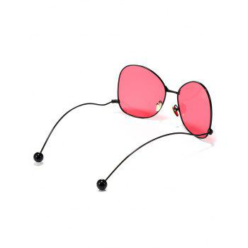 Anti UV Non Slip Bent Legs Sunglasses - BEAN RED