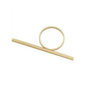 Metal Stick Decored Minimalism Ring - GOLD ONE-SIZE