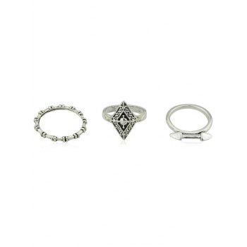 Alloy Geometric 6 Pieces Rings - SILVER ONE-SIZE
