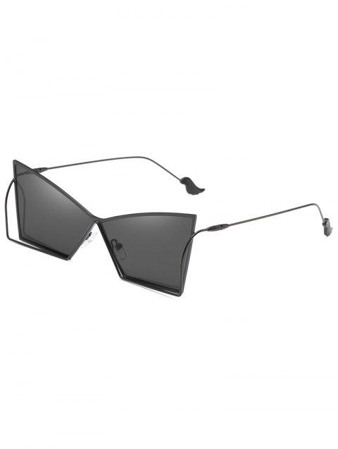 Stylish Steel Legs Flat Lens Driving Sunglasses - BLACK
