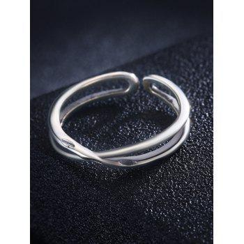 Sterling Silver Layered Cuff Finger Ring - SILVER ONE-SIZE
