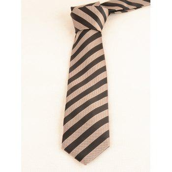 7CM Width Business Necktie and Bowtie Set - BLACK