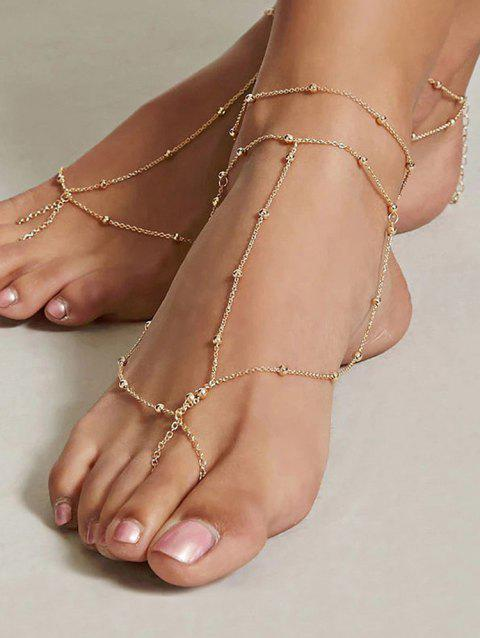 Foot Jewelry Barefoot Beach Anklet Chain - GOLD