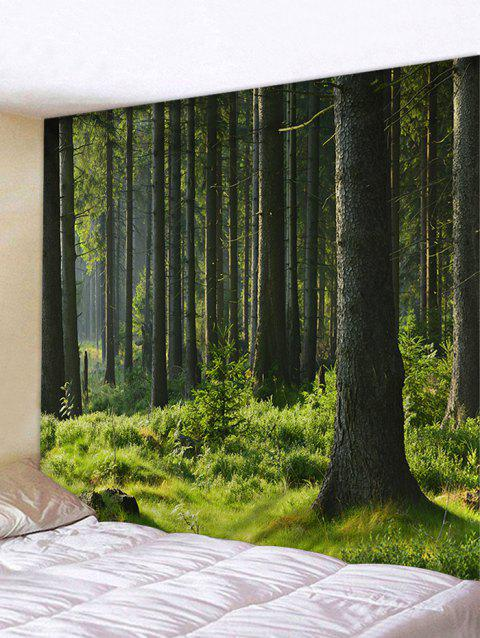 Green Forest Wall Hanging Art Tapestry - JUNGLE GREEN W79 INCH * L59 INCH