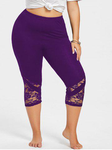bfc2aa3aaa7 Lace Hem Plus Size Capri Skinny Pants Buy 1 Get 10% Off ...