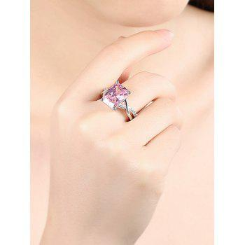 Artificial Crystal Rhinestone Finger Ring - HOT PINK 7