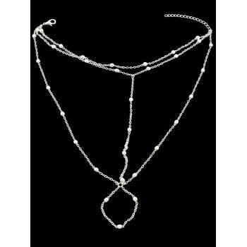 Foot Jewelry Barefoot Beach Anklet Chain - SILVER