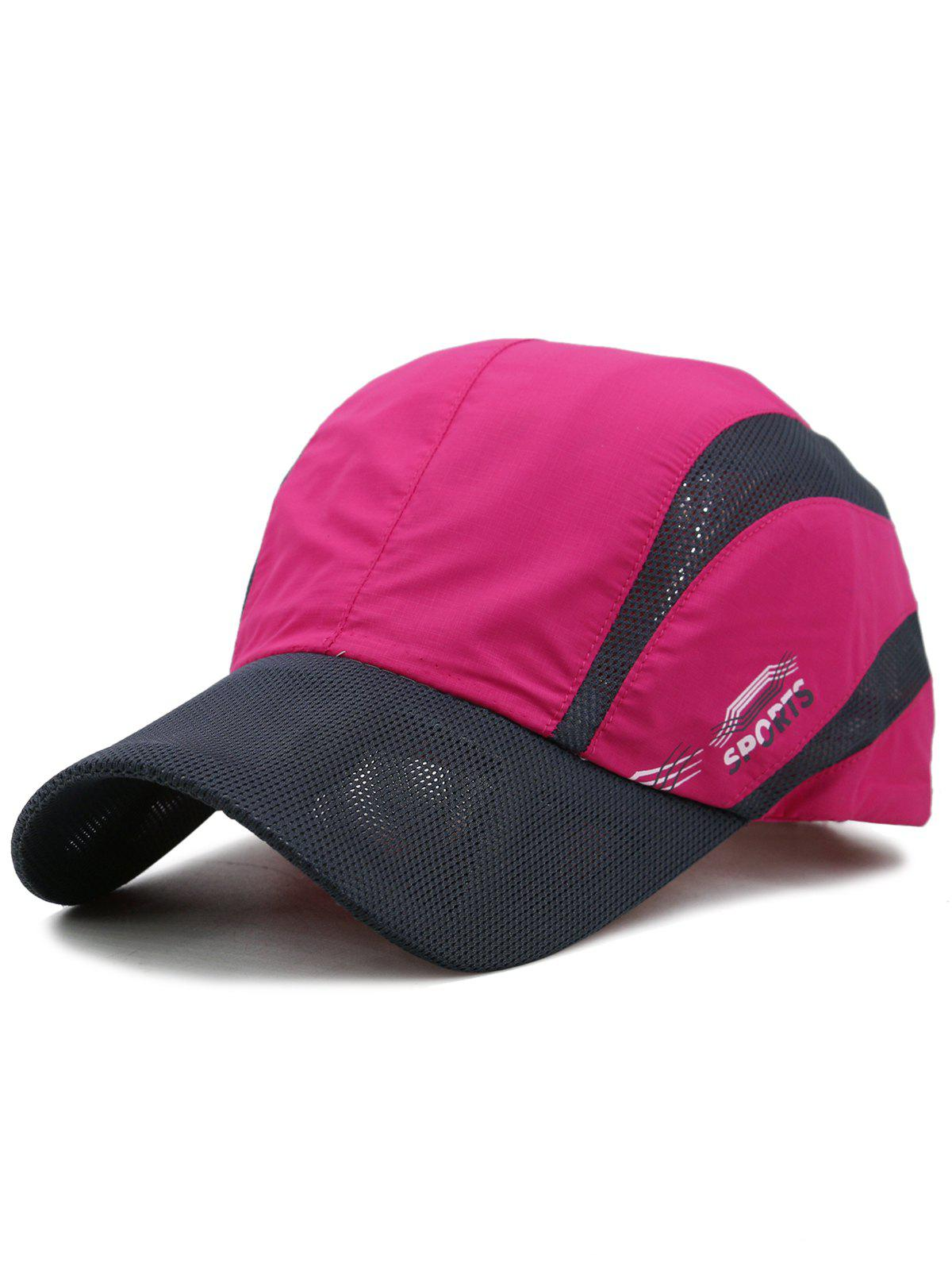 Lightweight Quick Dry Mesh Trucker Hat - ROSE RED