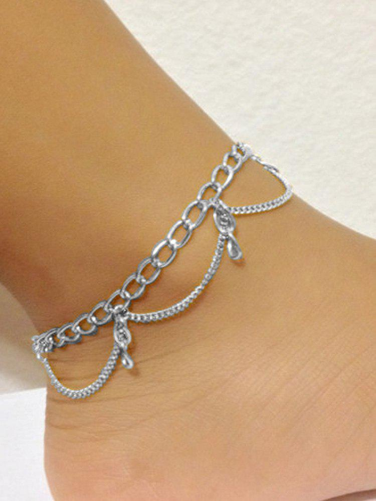 Minimalist Foot Jewelry Beach Anklet - SILVER