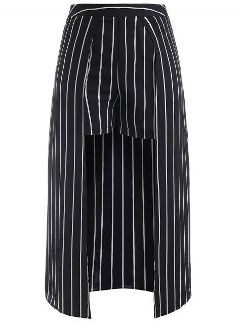 Stripes Maxi Overlay Shorts - BLACK L