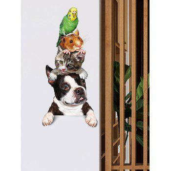 Cute Pets Dogs Pattern Wall Art Stickers - multicolor B