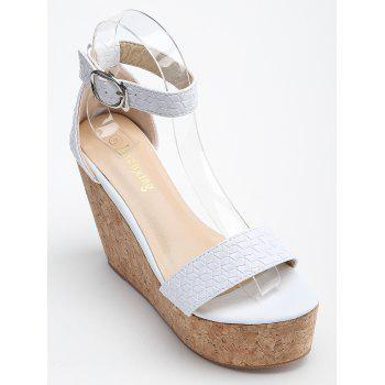 Ankle Strap High Heel Leisure Sandals - WHITE 38