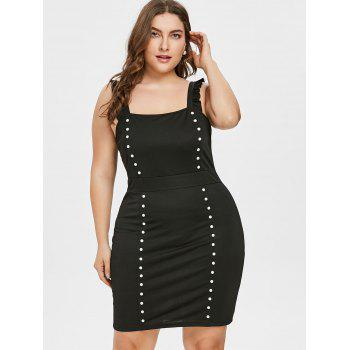 Plus Size Sleeveless Party Dress - BLACK 4X