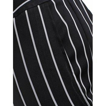 Stripes Maxi Overlay Shorts - BLACK 5X