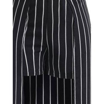 Stripes Maxi Overlay Shorts - BLACK 2X