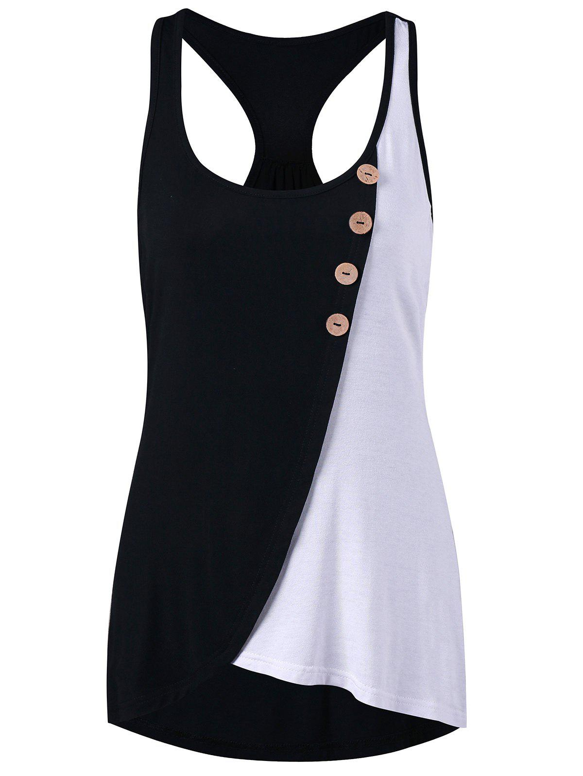 Color Contrast Racerback Tank Top casual graphic racerback tank top