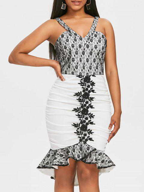 Lace Floral Mermaid Bodycon Dress