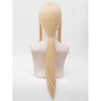 Long Straight Ponytail Violet Evergarden Anime Cosplay Wig - BLONDE