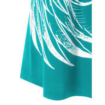 Plus Size Strappy Tank Top with Chains Embellished - LIGHT SEA GREEN XL