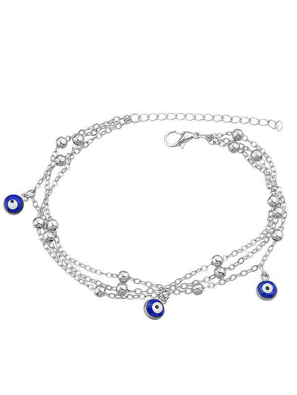 Metal Charm Chain Anklet - SILVER