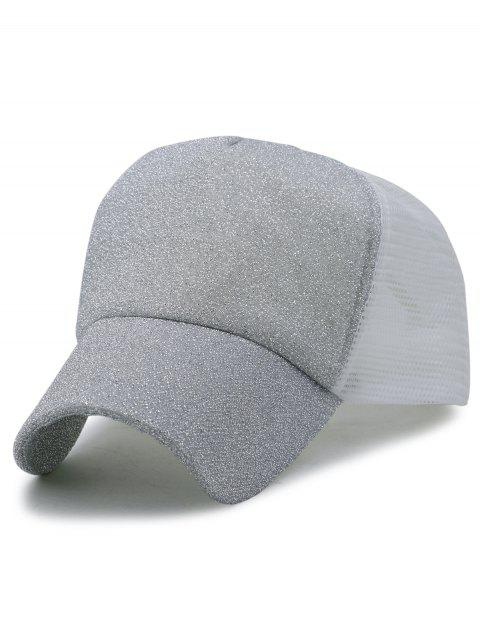 Solid Color Glitter Sparkle Baseball Cap - LIGHT GRAY