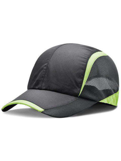 Solid Color Breathable Mesh Graphic Hat - GRAY WOLF