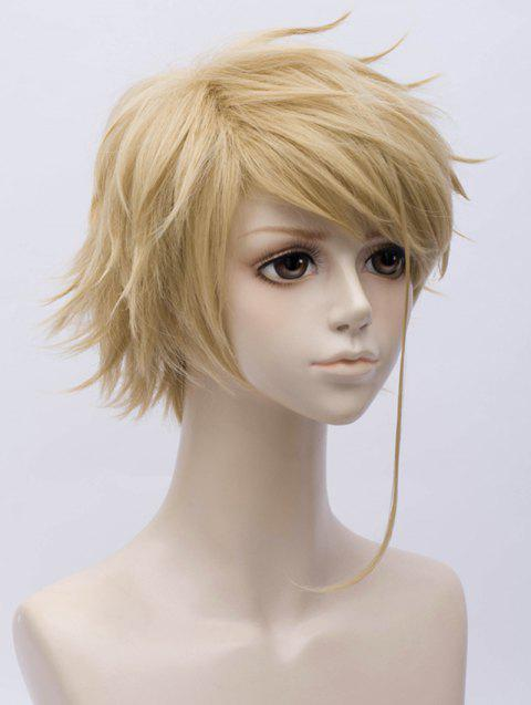 Short Side Bang Straight Anime Violet Evergarden Benedict Cosplay Synthetic Wig - LIGHT BROWN