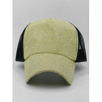 Solid Color Glitter Sparkle Baseball Cap - GOLDENROD