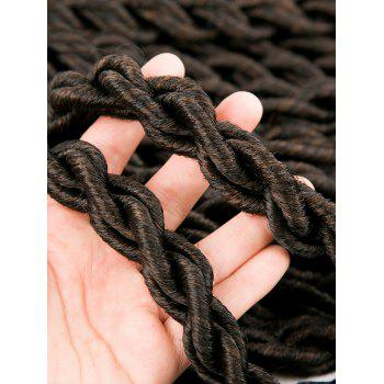 20 Roots Long Crochet Braiding Faux Locs Curly Hair Extension - BROWN