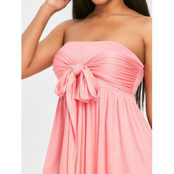 Tie High Waisted Cover Up Dress - LIGHT PINK 2XL