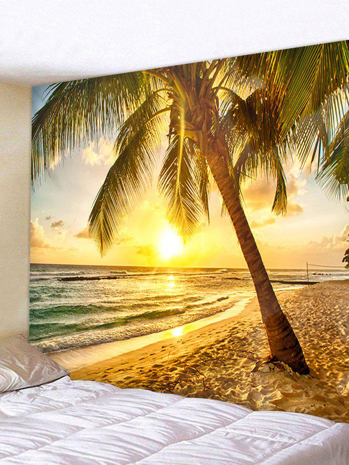 bc952d6ca60 Sunset Seaside Beach Coconut Tree Wall Hanging Decor Tapestry