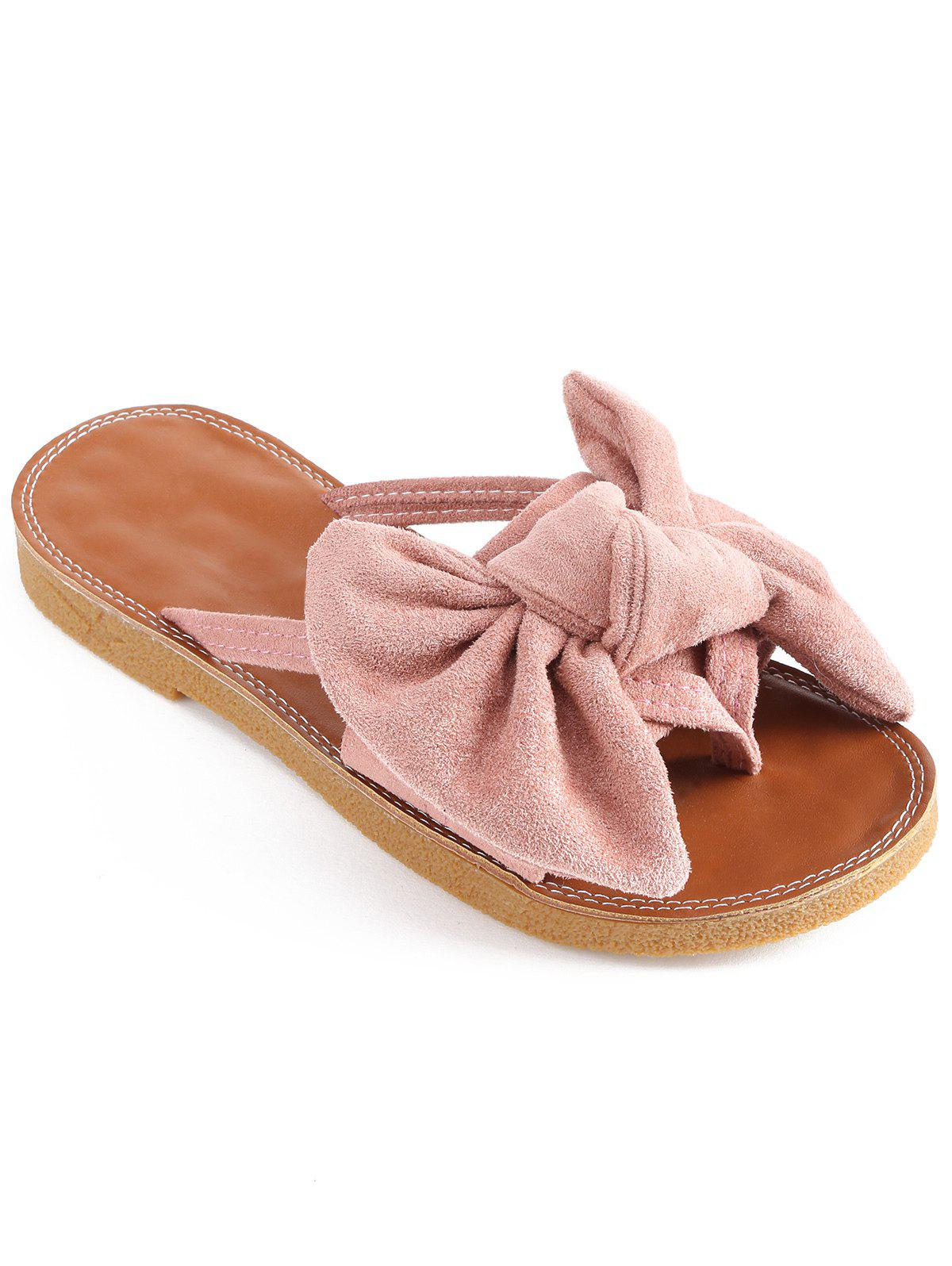 Outdoor Bowknot Embellished Slip On Shoes - LIGHT PINK 39