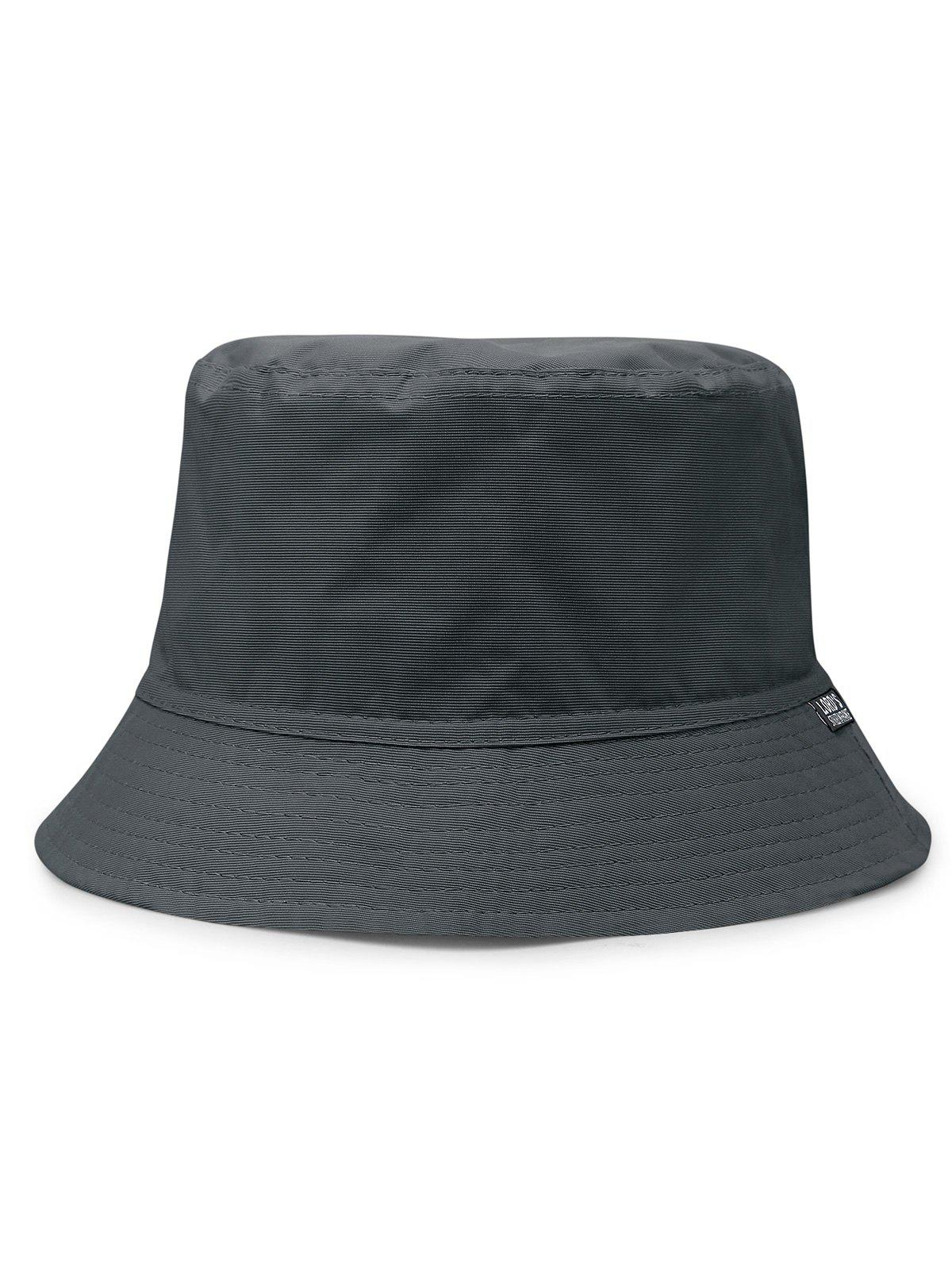 Outdoor Solid Color Flat Top Bucket Hat - GRAY
