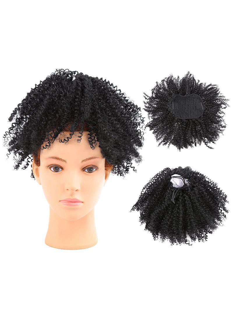2018 Short Shaggy Afro Kinky Curly Clip In Ponytail Hair Extension