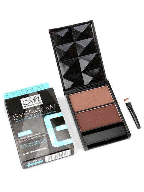 Professional 2 Colors Shades of Brows Eyebrow Powder Kit - multicolor B