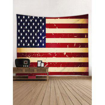 Vintage Stars and Stripes Flag Print Wall Hanging Art Tapestry - multicolor W79 INCH * L71 INCH