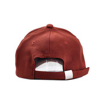 Amour Embroidery Adjustable Hip Hop Hat - BROWN