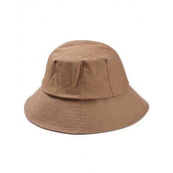 Striped Embroidered Washed Bucket Sun Hat - CAMEL BROWN