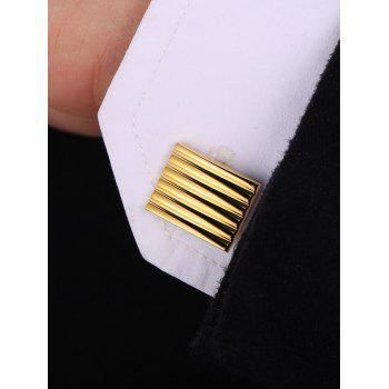 Plating Rectangular Shirt Suit Cufflinks - GOLD