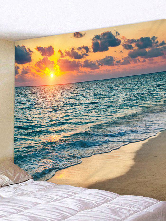Sunset Clouds Beach Print Wall Hanging Tapestry clouds without rain