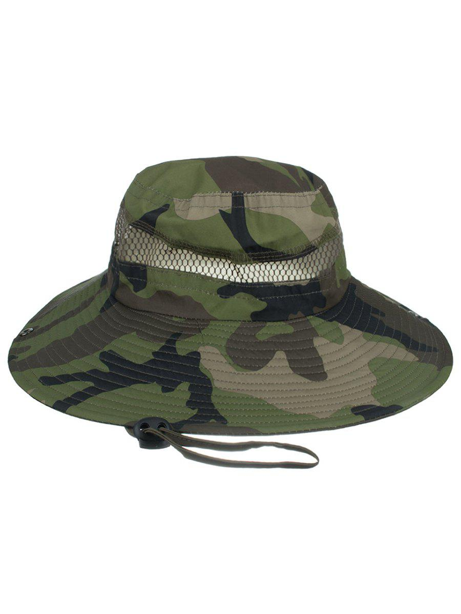 Lightweight Camo Pattern Mesh Sunscreen Hat - ACU CAMOUFLAGE